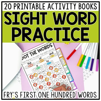 Sight Word Books & Activities For Fry Words 1-100