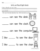 Sight Word Books: Companion Pages for Sight Word Books Set