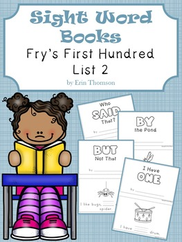Sight Word Books ~ Fry's First Hundred List 2