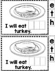 """Sight Word Books:  """"I Will Eat THE Food"""" Thanksgiving reader"""