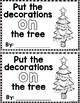 """Sight Word Books:  """"Put the Decorations ON the Tree"""" Inter"""