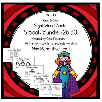Sight Word Books: Set 6 -was, do, of, what, said; Sight Wo
