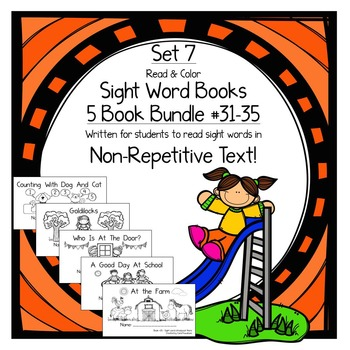 Sight Word Books-Set 7-all,that,who,went,there; Sight Word