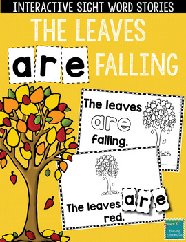 "Sight Word Books:  ""The Leaves ARE Falling"" Fall reader"