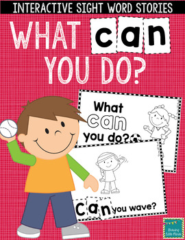 "Sight Word Books:  ""What CAN you do?"" Interactive reader"