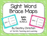 Sight Word Brace Maps {Dolch Lists Bundle}