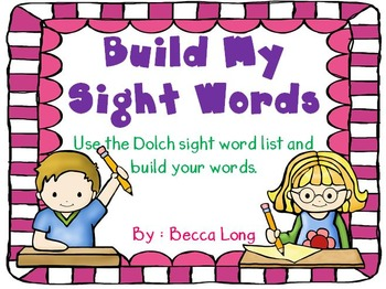 Sight Word Build - Dolch Words