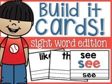 Sight Word Build it Cards