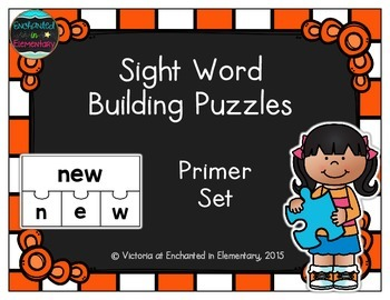 Sight Word Building Puzzles: Primer Set