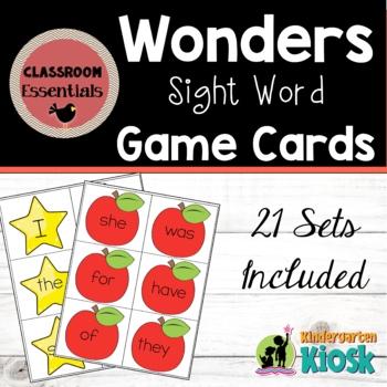 Sight Word Card Sets: Wonders