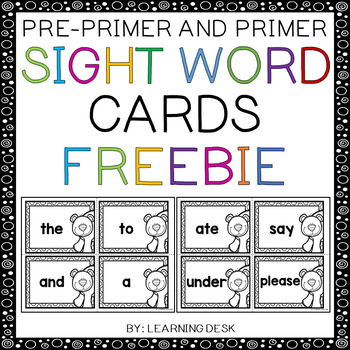 Pre-Primer and Primer Sight Words
