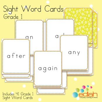 Sight Word Cards-Grade 1