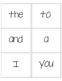 Sight Word Cards - Kindergarten
