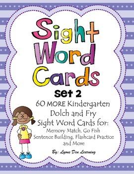 Sight Word Cards - Set 2