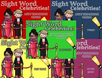 Sight Word Celebrities BUNDLE - Sight Word Incentive Progr