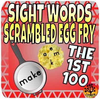 Sight Word Center Activities Fry Words 1st 100 Scrambled E
