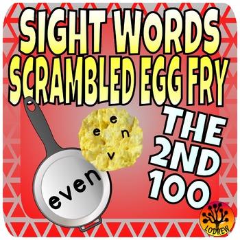 Sight Word Center Activities Fry Words 2nd 100 Scrambled E