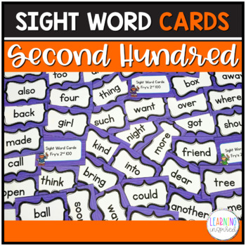 Sight Word Center Cards (Fry's 2nd Hundred)