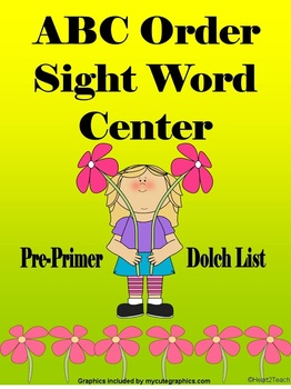 Sight Word Center (Pre-Primer/Dolch List)