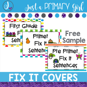 Sight Word Centers Covers and Sample
