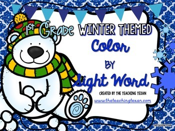Sight Word Coloring Pages Packet First Grade - Winter Themed