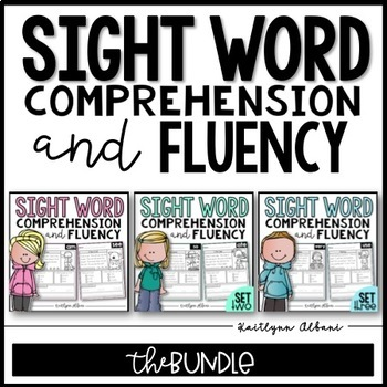 Sight Word Comprehension and Fluency Practice - BUNDLE
