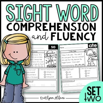 Sight Word Comprehension and Fluency Practice SET 2
