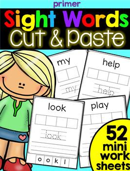 Sight Word Cut & Paste: Primer