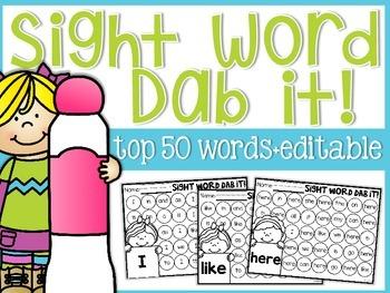 Sight Word Dab It!