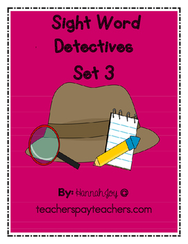 Sight Word Detectives Set 3