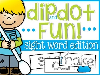 Sight Word Dip and Dot Fun