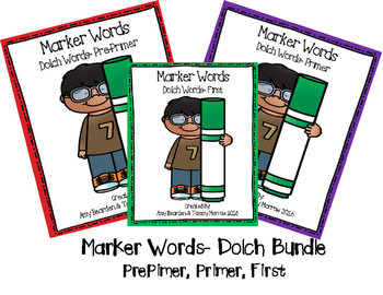 Sight Word- Dolch List- Marker Words THE BUNDLE