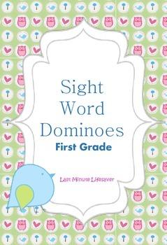 Sight Word Dominoes- First Grade FREEBIE