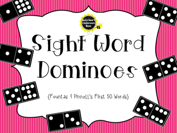 Sight Word Dominoes ~ Fountas & Pinnell 50 High Frequency Words