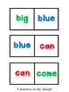 Sight Word Dominoes (Pre-Primer)