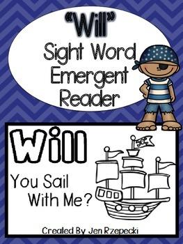 Sight Word Emergent Reader-WILL
