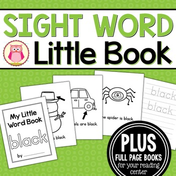 Sight Word Emergent Reader for the Sight Word Black