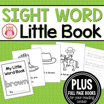 Sight Word Emergent Reader for the Sight Word Brown