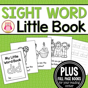 Sight Word Emergent Reader for the Sight Word Did