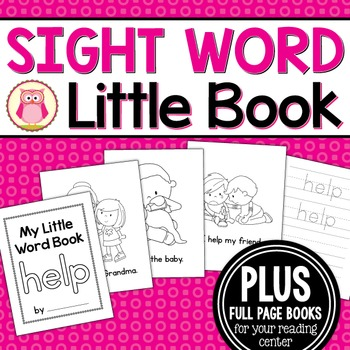 Sight Word Emergent Reader for the SIght Word Help