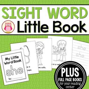 Sight Word Emergent Reader for the Sight Word She