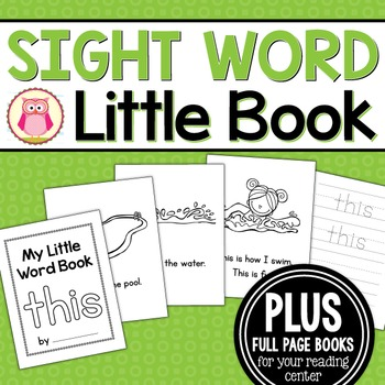 Sight Word Emergent Reader for the Sight Word This