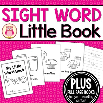 Sight Word Emergent Reader for the Sight Word Two