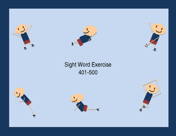 Sight Word Exercise- Fry fifth 100 words