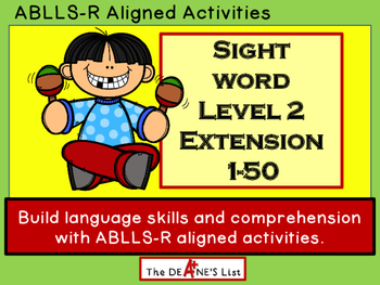 Sight Word Level 2 Extension 1-50