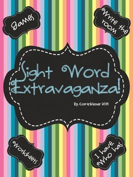 Sight Word Extravaganza Mega Bundle