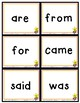 Sight Word FLASH CARDS --- Sight Word Savvy