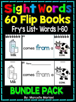 Sight Word FLIP BOOKS- 60 Sight Word Readers- Fry's First