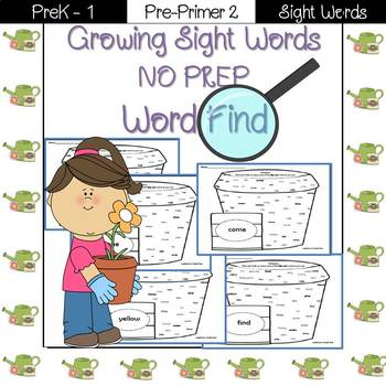Sight Word Find-Pre-Primer 2