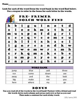 Sight Word Find (pre-primer)